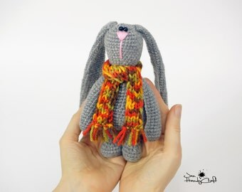 Plush bunny rabbit Woodland animal plushie toy Stuffed bunny doll Baby shower gift Nursery decor Plush rabbit Stuffed animals Plush animal