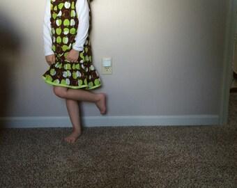 Girls geen apple jumper dress