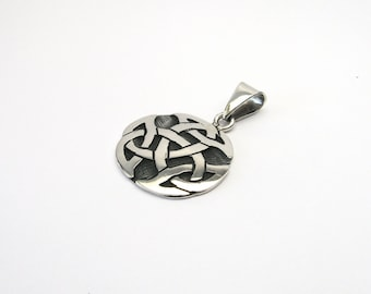 Silver 925 large Celtic knot Celtic Trinity pendants solid