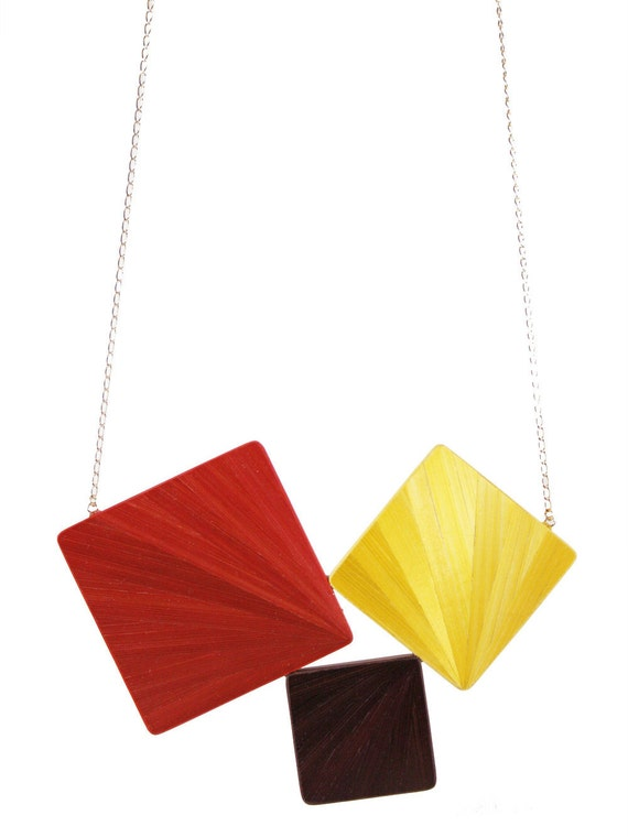 Soldes -30% Collier Triptyque Eventail Automne