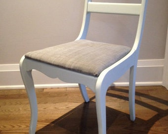 Painted Chair with upholstered seat