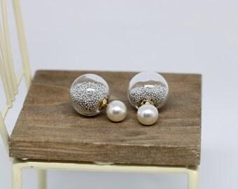 Ball Earrings, Ball Ear Jackets, Ball Double Sided Earrings, Front Back Earrings, Double Ball Earrings, Ball Two Sided Earrings