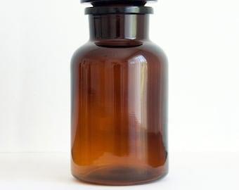 Amber Apothecary Jar, 1000 ml (33.8 fl oz)