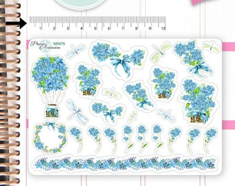Flower Stickers Spring Stickers Ballon Stickers Planner Stickers Erin Condren Functional Stickers Decorative Stickers NR476