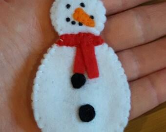 Mini Snowman Christmas Tree Ornament