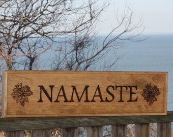 NAMASTE sign for yoga lovers