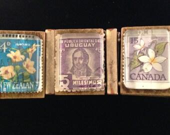 Around the World Postage Stamp Bracelet