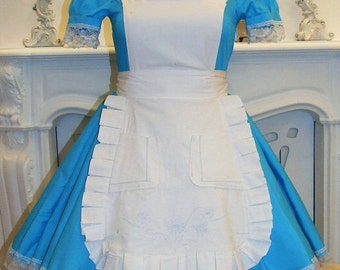 Alice in wonderland dress adult, Alice dress, alice in wonderland costume, Alice cosplay. Free shipping