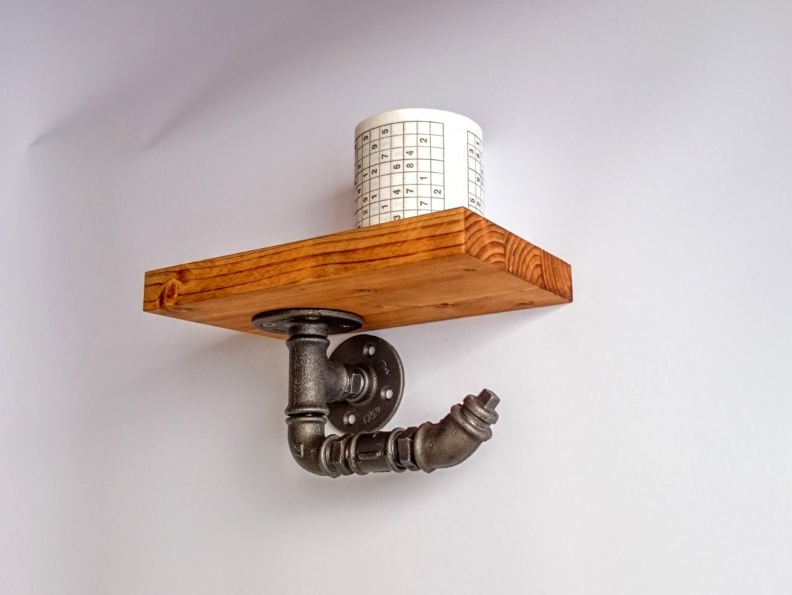 Toilet Paper Holder Toilet Roll Holder With Shelf Rustic