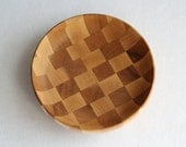 Hand Turned Checker Board Bowl - Mens Wood Valet, Mens Dresser Valet, Jewelry Organizer, Wood Catchall Tray, Nightstand Tray, Gifts for Him