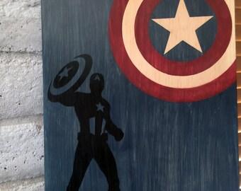 Captain America Wall Art Etsy