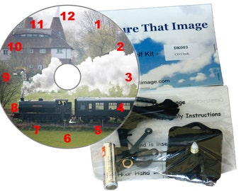Steam Train CD Clock Kit