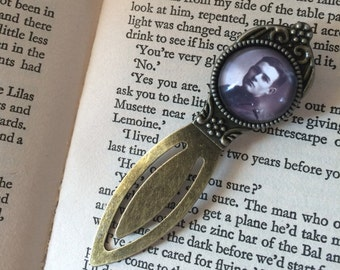Ernest Hemingway Antique Bronze Bookmark - Gift For Reader, Book Lover, Bibliophile, Book Gift, Author Bookmark, Library Book Gift