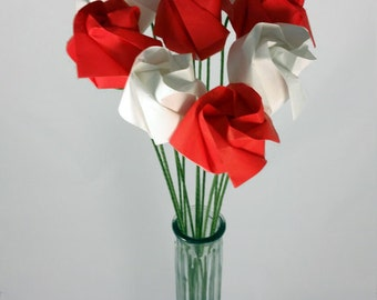 Dozen Origami Roses