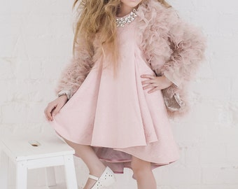 Dress+coat for girls, baby dress, pink girls dress, Tutu dress