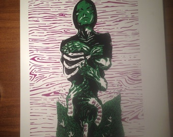 Silkscreen print: Lake of the Dead