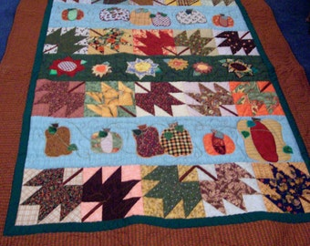 Fall Lap Size Row Quilt