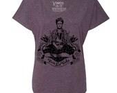Frida Viva La Vida Tri-Blend Wide Neck Dolman Tee Shirt