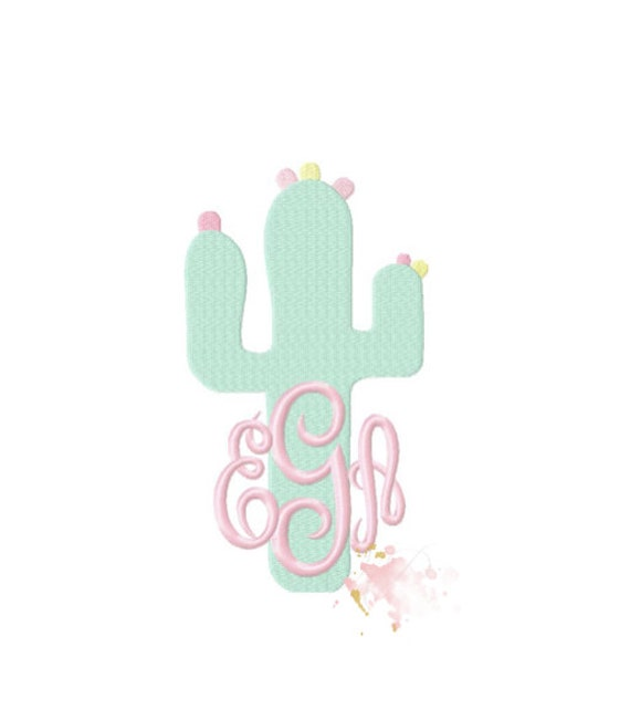 Cactus embroidery design south carolina moon beach machine