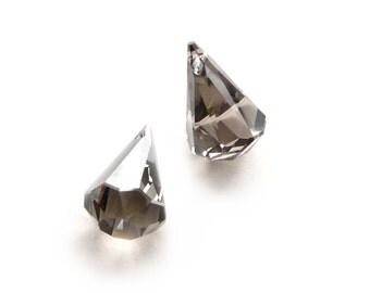 2pcs Swarovski 6022 XIRIUS Raindrop faceted Crystal Pendant Crystal Satin - 24mm