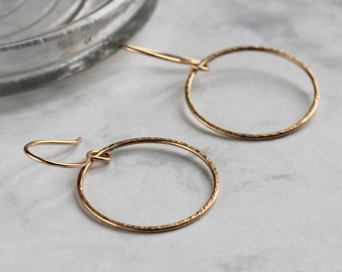 Sparkle Hoop Earrings - Gold Fill