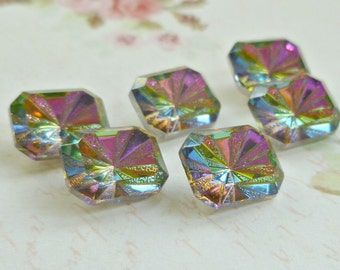 Vitrail 10x8mm Octagon Glass Rhinestone Jewels (52-15F-6)