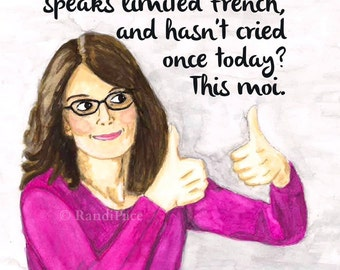 Liz Lemon - 30 Rock - Watercolor Painting Print