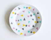 SUMMER SALE! Bows and triangles breakfast plate