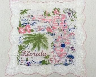 Vintage Souvenir Hankie Fun & Fabulous Florida