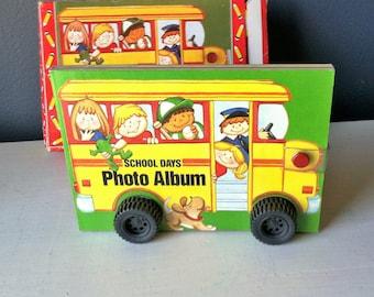 School Bus Album , Retro 80s School , Scrapbooking School Photos , Album For Preschool-6th Grade School Pictures