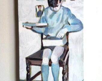 present - tiny canvas print -mounted print - children wall art print