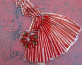 Michael Miller Retro Christmas Fabric Holiday Hostess PIN BROOCH