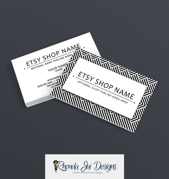 Items similar to business cards for etsy shop black and for Etsy shop business cards