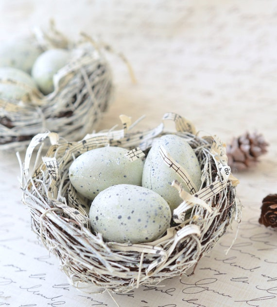 bird nest home decor winter decor rustic christmas decor
