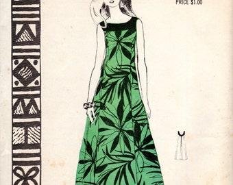 1960s Polynesian Lani Hawaiian Style Dress - Vintage Pattern Polynesian 191 - Bust 34 UNCUT FF