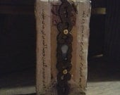 A Glimpse:  Original mixed media assemblage art by Leslee Lukosh of Foundturtle in Portland, Oregon