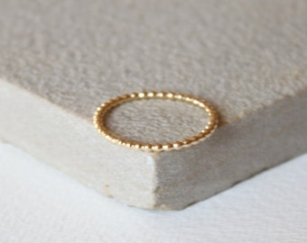 Gold fill stacking rings trendy stacking rings, thin gold ring, stacking ring, delicate jewellery, dainty ring, beaded ring