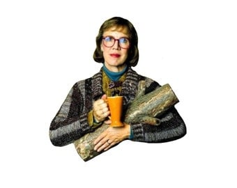 Log Lady Babe Magnet