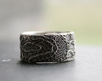 Lacey no 30 - sterling silver lace ring -  made to order in your size
