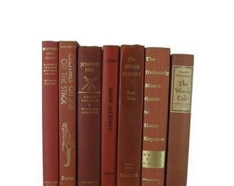 Brown Earth Tone  Decorative Books , Brown Vintage Books , Home Decor , Old Books , Vintage Photo Props , Table Setting , Wedding Decor