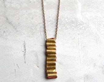 L a d d e r   Threaded Beaded Linear Necklace