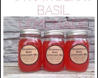 Strawberry Basil Lemonade Mix -Lemonade Syrup