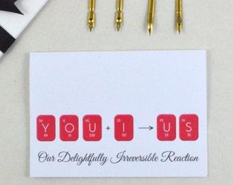 Boyfriend Card, Girlfriend Card, Birthday Card, Love Card, Instant Download, Printable Card, Periodic Table, Geeky Card, Nerdy Card, UK
