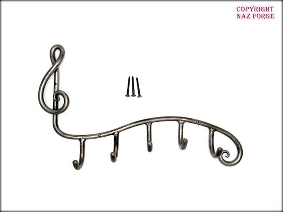 JEWELRY DISPLAY RACK Musical Note Treble ClefI - or Key Rack Display - 6th Wedding Anniversary Gift Idea Hand Forged Original Design by Naz