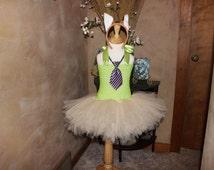 Nick Wilde Costume, Zootopia Costume, Nick Wild Fox Tutu Dress, Zootopia Halloween Costume, Toddler, Big Girls Costume 2T 3T 4T 5 6 7 8