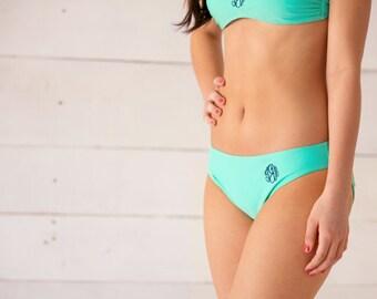 Custom Monogram Swim Bottoms - Bridesmaids Gift - Summer Monogram - Vacation - Bathing Suit - Monogram Gift - Wedding Shower