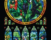 Full Size - Green Lantern Corp Stained Glass Illustration