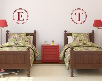 Monogram for Boys | Monogram for Girls | Nursery Monogram | Monogram Wall Decal | Initial Monogram Wall Decor