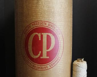 Vintage Colgate Palmolive Soap Barrel // Hard Board Storage Bin // Vintage Advertising