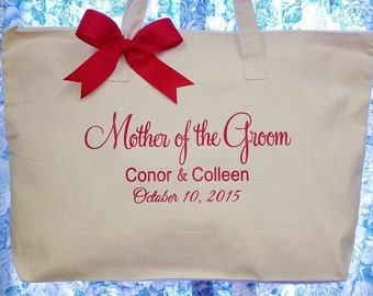 Personalized Tote Bag, Mother of the Bride, Groom, Wedding Bags, Bridal Party Gifts
